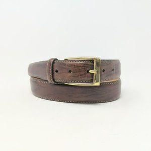 Martin Dingman Brown Leather Handmade Belt